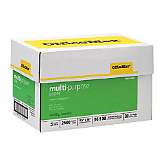OfficeMax MaxBrite Multipurpose Paper 8 12