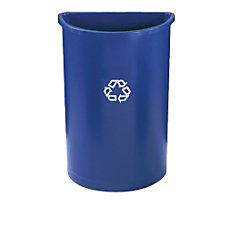 Rubbermaid Half Round Plastic Recycling Container