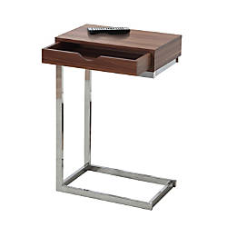 Monarch Specialties Accent Table Rectangle WalnutChrome