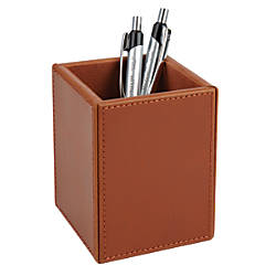 Realspace Leatherette Pencil Holder Cup 3