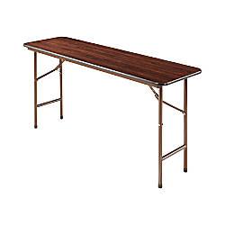 Alera folding table rectangle 29 h x 60 w x 18 d walnut by for Office depot folding tables