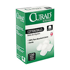 CURAD Sterile Cotton Balls 1 Box