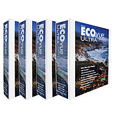 ECOvue Ultra D Ring View Binder
