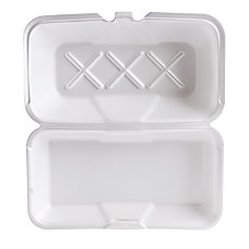 Genpak Foam Hinged Carryout Containers Large
