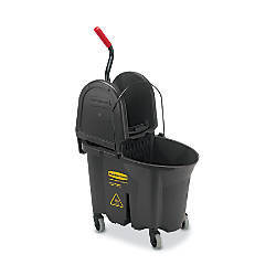 Rubbermaid WaveBrake Plastic Commercial Bucket With