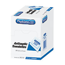 PhysiciansCare Antiseptic Towelettes Dispenser Box 4