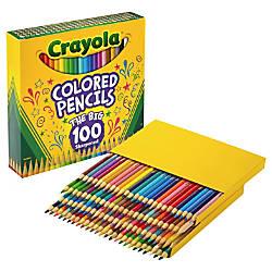 Crayola 100 Colored Pencils Assorted Lead