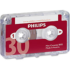 Philips Speech Dictation Minicassette With File