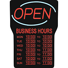 Royal Sovereign LED Open Sign with