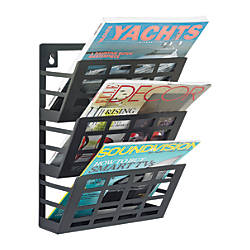 Safco 3 pocket Grid Magazine Rack