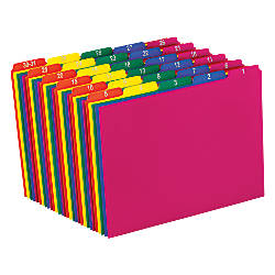 OfficeMax File Guides1 31 Assorted