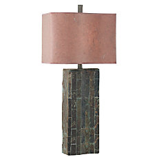 Kenroy Ripple Table Lamp SlateCinnamon