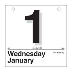 AT A GLANCE Today Is Daily Calendar Refill 6 x 6 1 Page