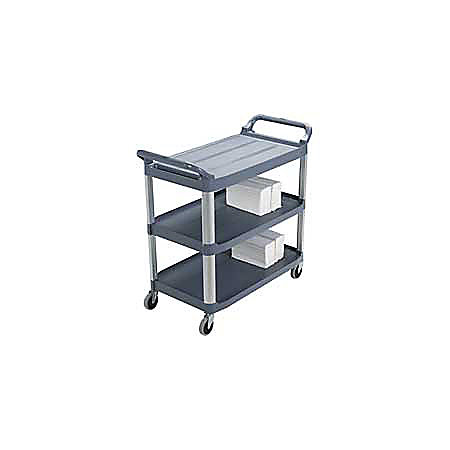 rubbermaid xtra utility cart 37 45h x 40 35 black newell office depot