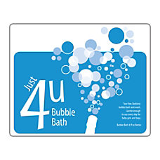 1 Color Advertising LabelsStickers Rectangle 4