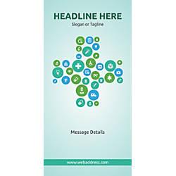 Custom Vertical Banner Health Icons
