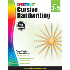Spectrum Cursive Handwriting Workbook