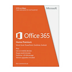 microsoft office 365 home premium for windows 5 pcs