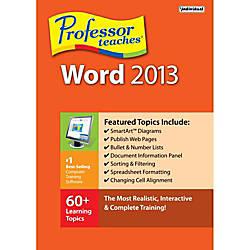 Professor Teaches Word 2013 Download Version