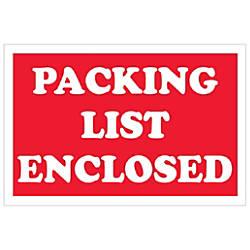 Tape Logic Preprinted Labels Packing List