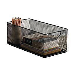 Neat Life Mesh Storage Box Large Black By Office Depot