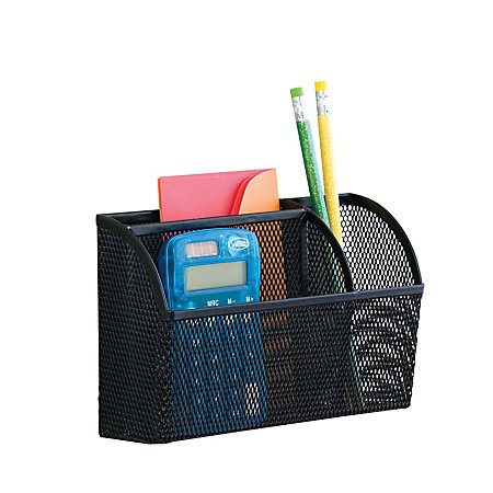 Neat life mesh magnet organizer 3 compartments large black - Neat desk organizer ...
