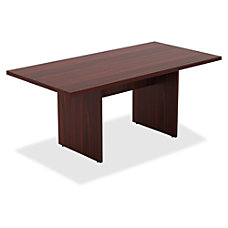 Lorell Chateau Series Mahogany 6 Rectangular