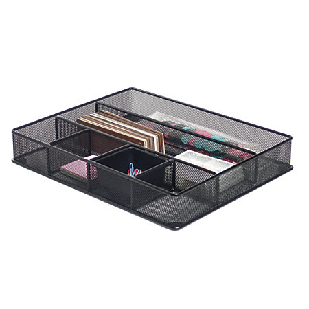 Brenton studio metro mesh large drawer organizer 2 716 h x - Drawer desk organizer ...
