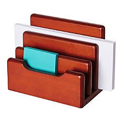 Rolodex Wood Tones Mini Sorter Mahogany