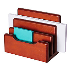 Rolodex Wood Tones Mini Sorter Mahogany