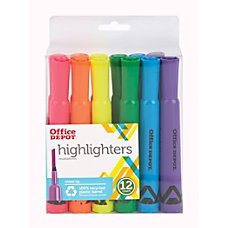 Office Depot Brand Chisel Tip Highlighter