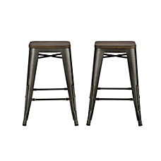 DHP Fusion Backless Counter Stool Brown
