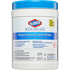 Clorox Healthcare Bleach Germicidal Wipes Unscented