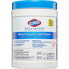 Clorox Healthcare Bleach Germicidal Wipes Wipe