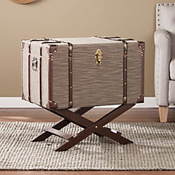 Southern Enterprises Devane Linen Trunk File