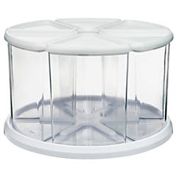 deflecto Carousel Organizer Set 6 Compartments