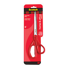 Scotch Household Scissors 8 Pointed Red
