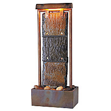 Kenroy Montpelier Indoor Tabletop Fountain SlateCopper