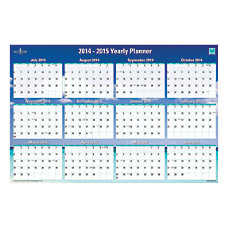 Blue Sky AcademicAnnual ErasableReversible Wall Planner