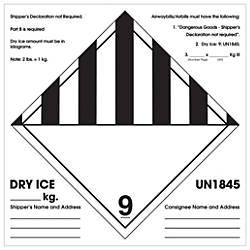 Tape Logic Preprinted Labels Shippers Declaration