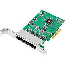 SIIG 4 Port Gigabit Ethernet PCIe