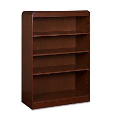 Lorell Radius Hardwood Veneer Bookcase 4