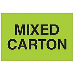 Tape Logic Preprinted Labels Mixed Carton