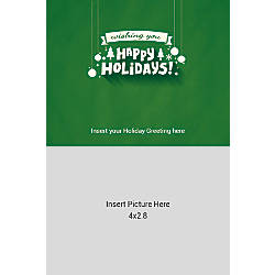Photo Greeting Card Vertical Happy Holidays