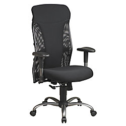 Office Star Pro Line II Mesh High Back Chair With Titanium Finish Accents 47