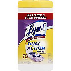 Lysol Dual Action Wipes Wipe Citrus
