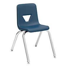Lorell Stacking Student Chairs NavySilver Set