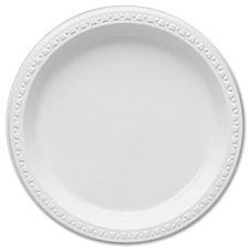 Plastic Dinnerware Plates 9 Diameter White