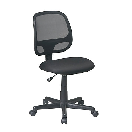 Office Star Work Smart Mesh Screen Back Task Chair Without Arms Black By Offi