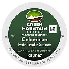 Green Mountain Coffee Pods Colombian Fair